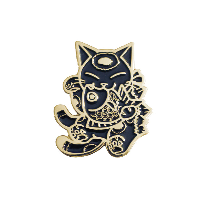 Negora and Koi Pin : Black and Gold