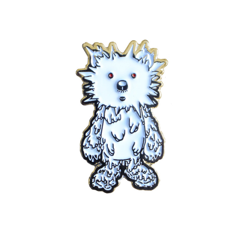 INC. Pin : White and Gold