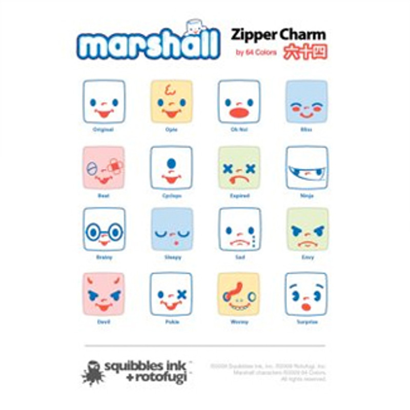 Marshall Zipper Charms : Blind Box