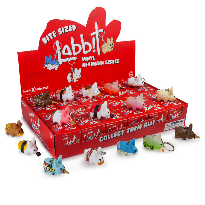 Bite Sized Labbit Vinyl Keychains : Case of 24