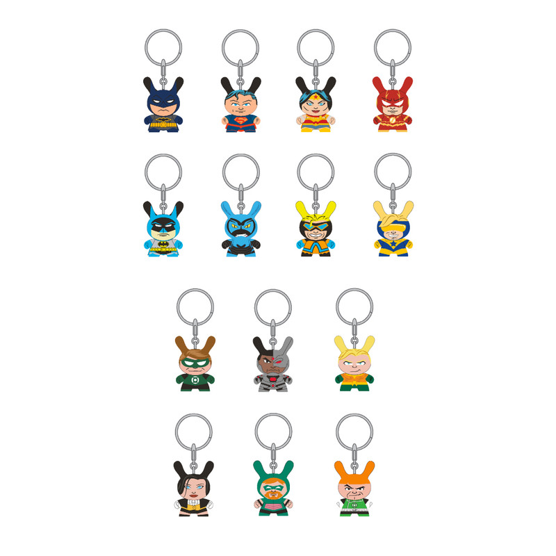 DC Justice League Dunny Keychains : Case of 24