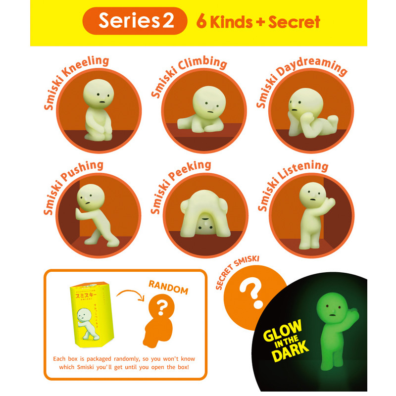 Smiski Glow in the Dark Series 2 : Blind Box