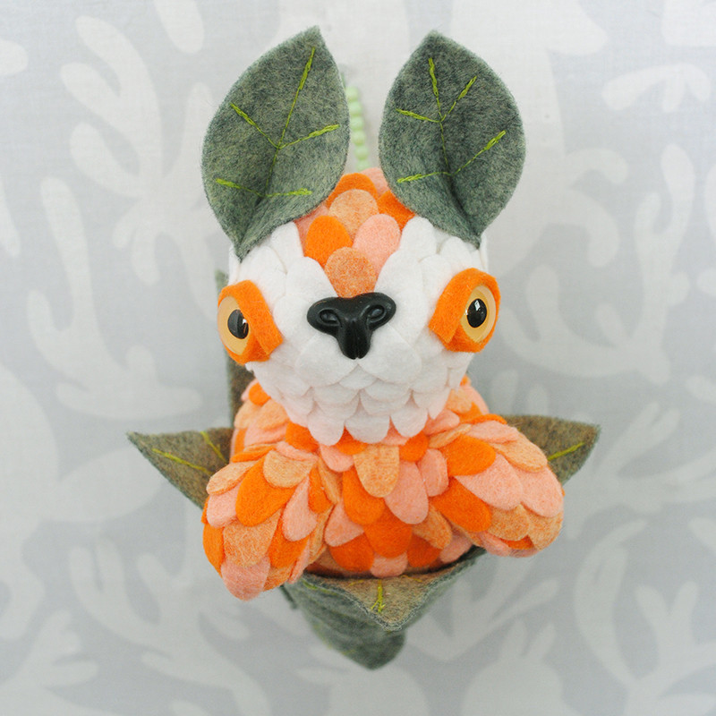 Orange Sherbert Leaf Peeper by Horrible Adorables