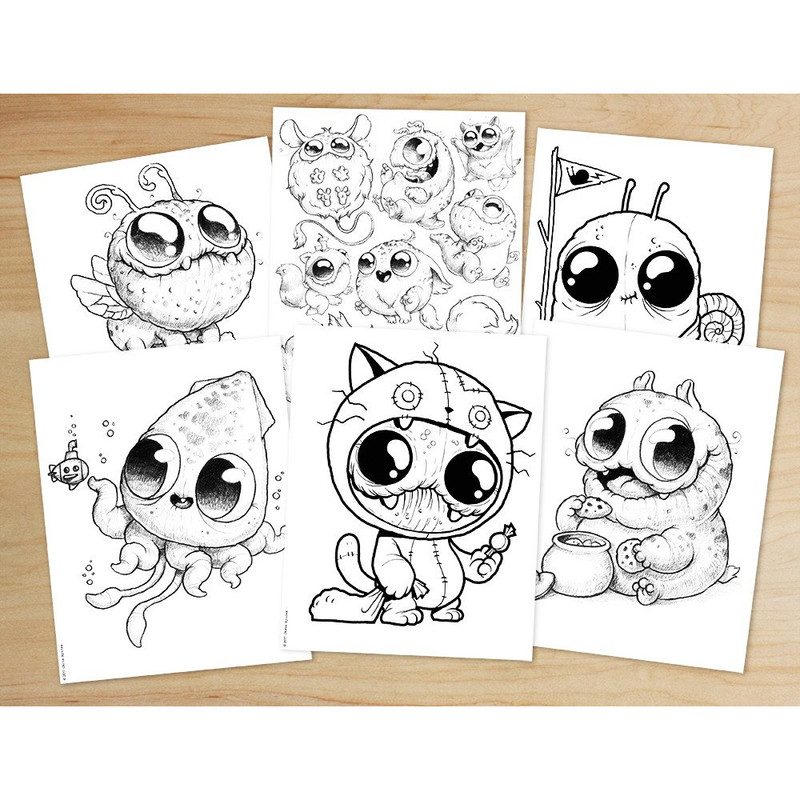 Morning Scribbles Coloring Book by Chris Ryniak