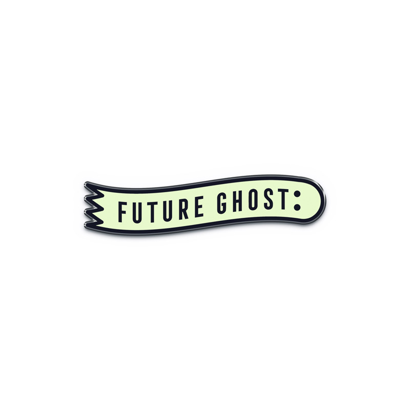 Deluxe Finish Future Ghost Pin - Blue Glow