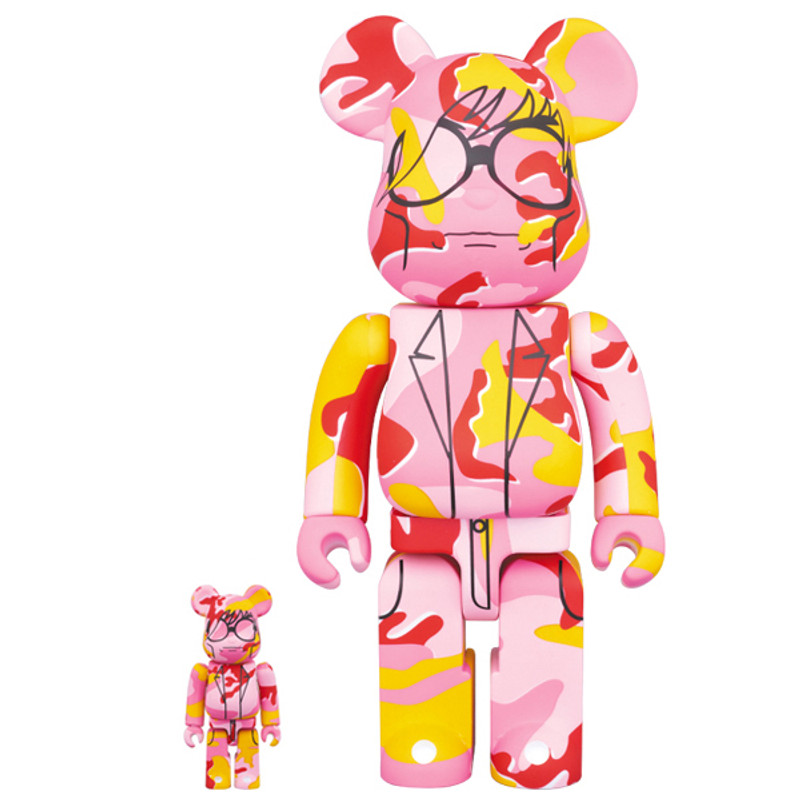 Be@rbrick 400% and 100% : Andy Warhol Camo