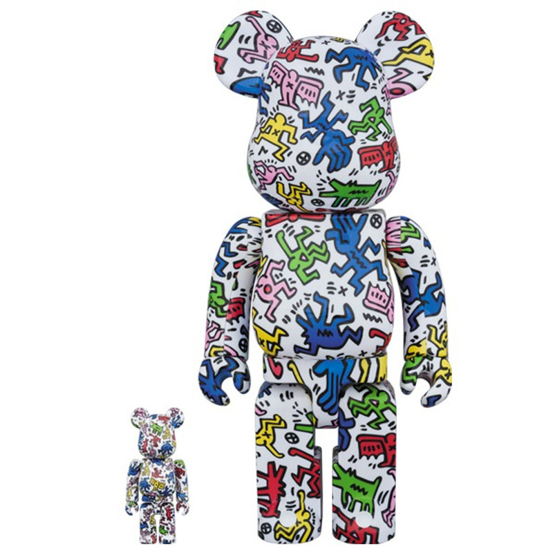 Be@rbrick 400% and 100% : Keith Haring