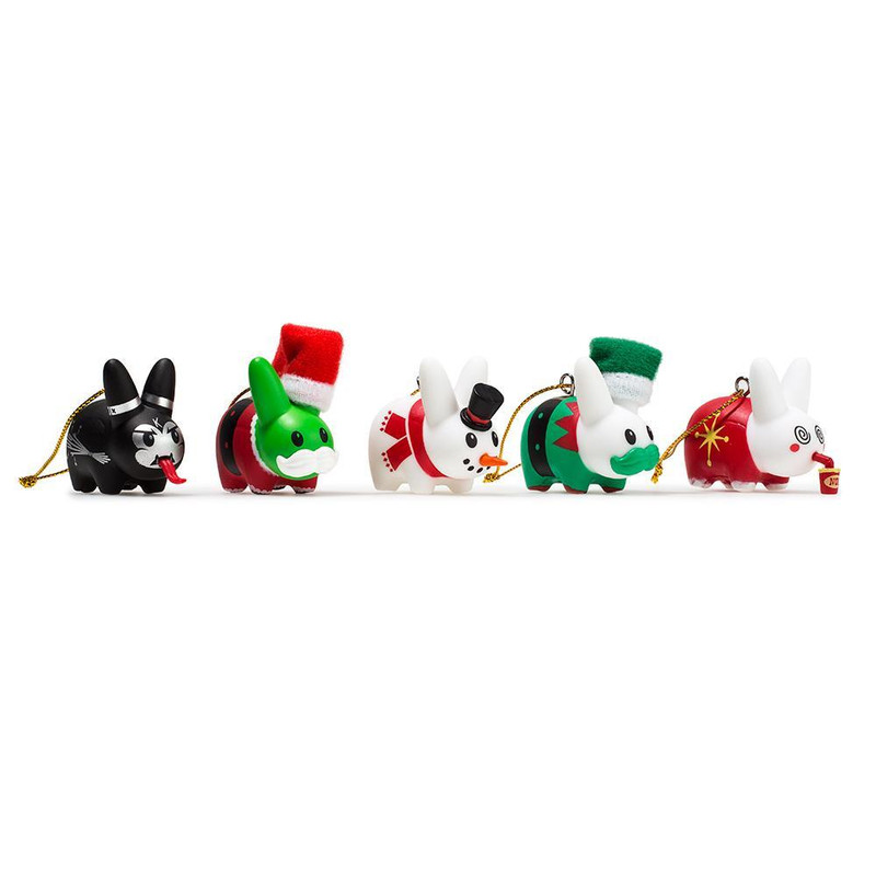 Happy Labbit Christmas Tree Ornaments 5-Pack
