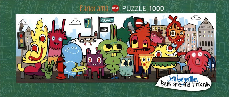 In the City 1000 Piece Puzzle by Jon Burgerman