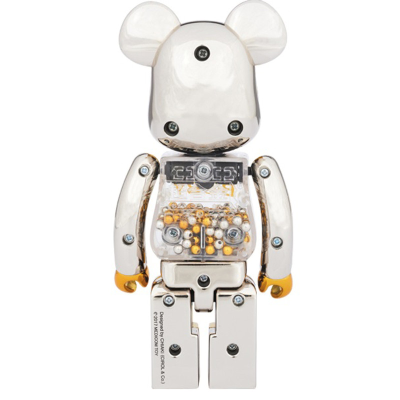 Super Alloy My First Be@rbrick 200% :  Gold & Silver