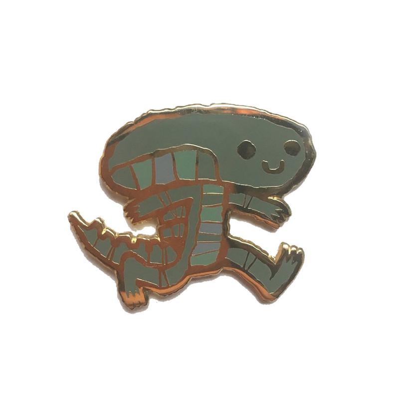 Alien on the Move Enamel Pin