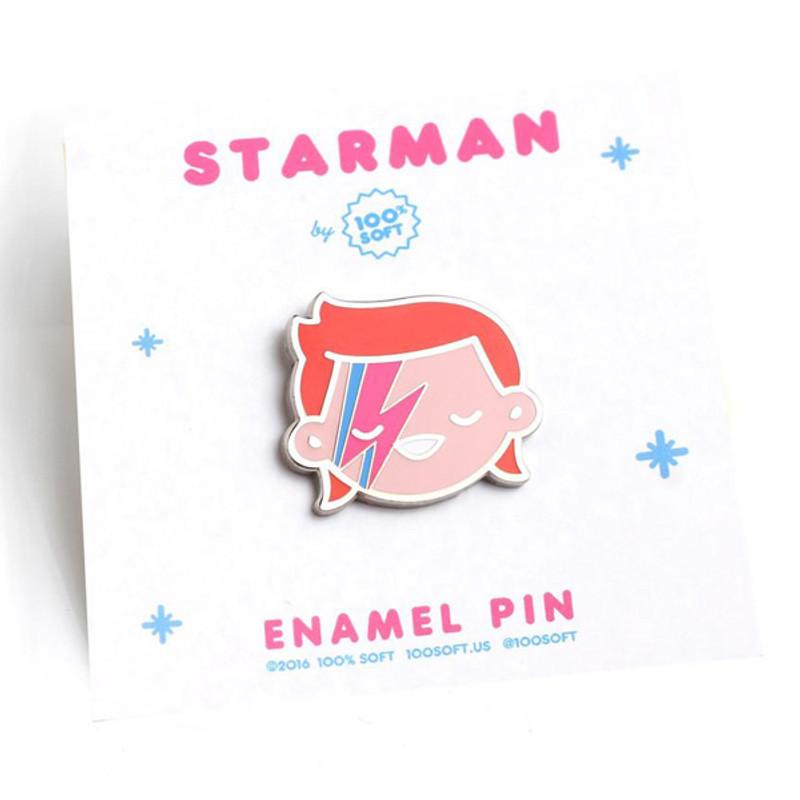 Starman Enamel Pin