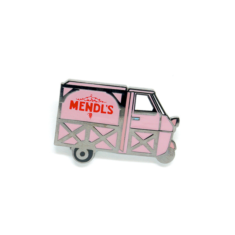 Mendl's Pink Bakery Truck Enamel Pin