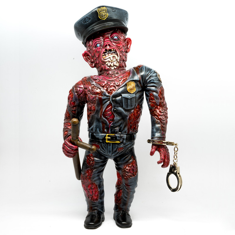 """Raspberry Puree"" Mutant Cop by Nate the Milkman *SOLD*"