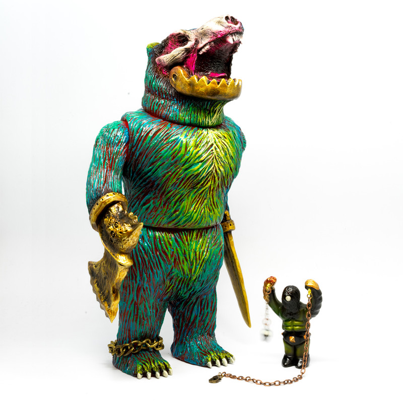 Orc Beastmaster with His Charge by Rampage Toys *SOLD*