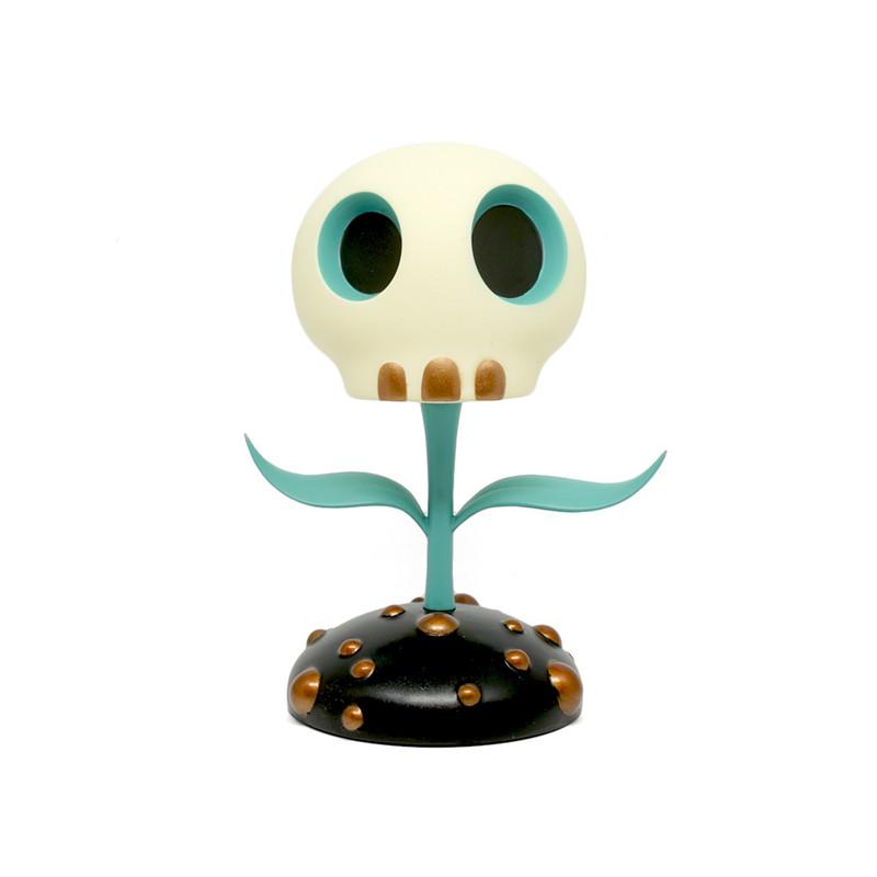 Skull Flower 5 inch : Blue by Tara McPherson