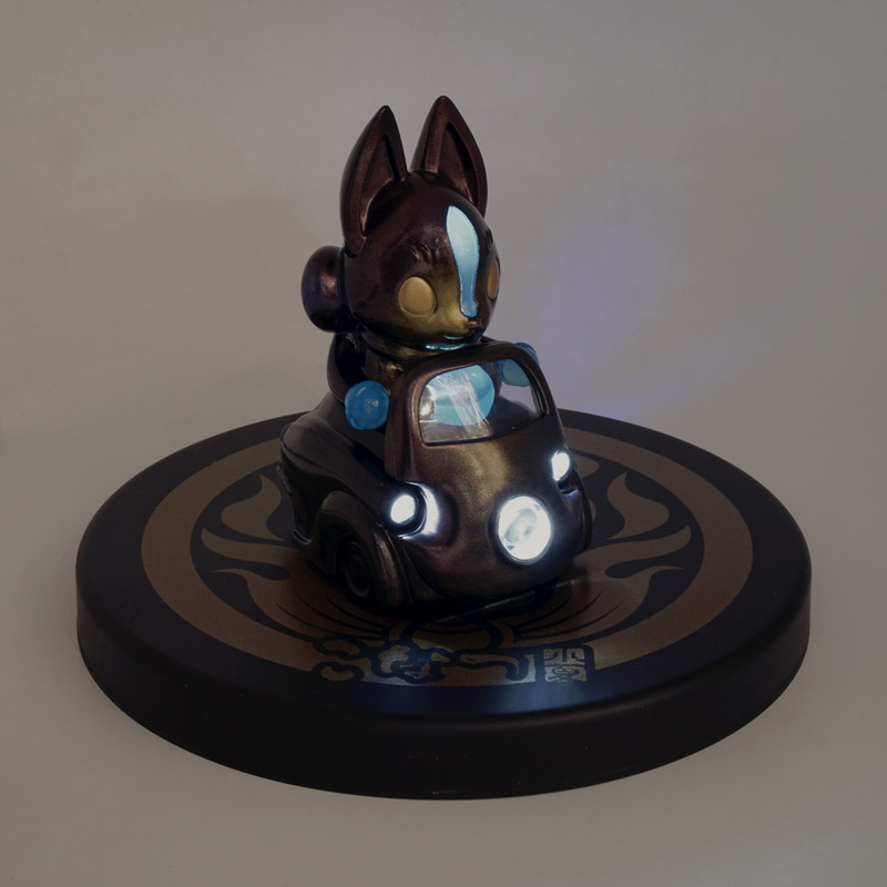 Lumisofvi : Konta Black Set (Mini Figure with Light-up Car + Base)