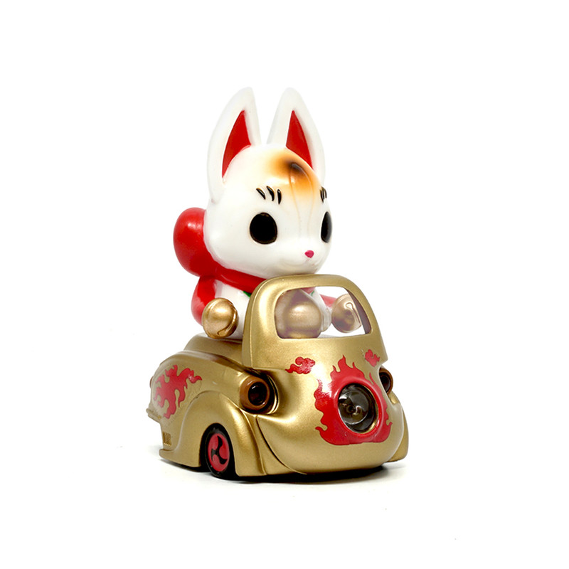 Lumisofvi : Konta White Set (Mini Figure with Light-up Car + Base)