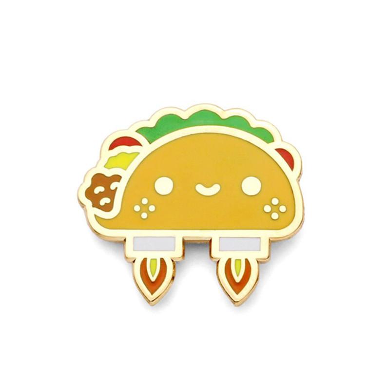 Space Taco Enamel Pin