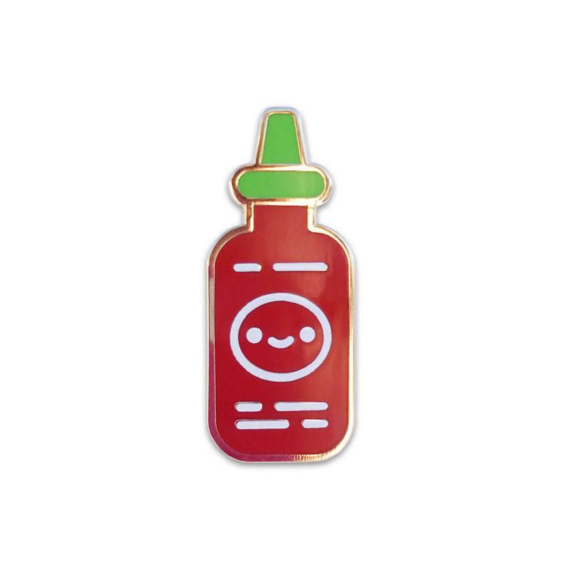 Sriracha Friend Enamel Pin