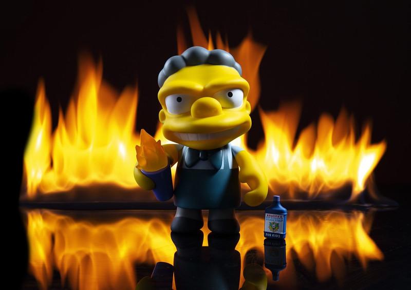 Simpsons 7 inch : Flaming Moe's