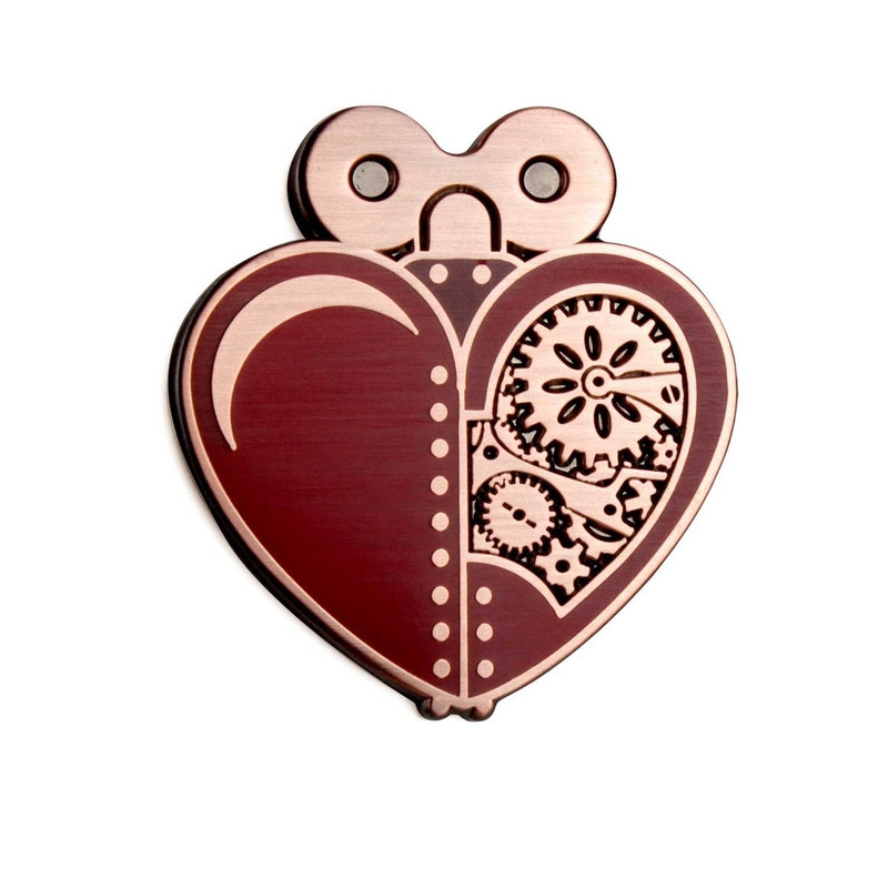 Woodsman's Heart Red Enamel Pin
