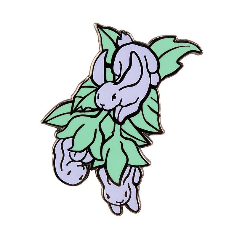 Bunny Blossom Glow Enamel Pin