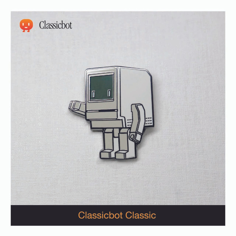 Classicbot Classic Enamel Pin