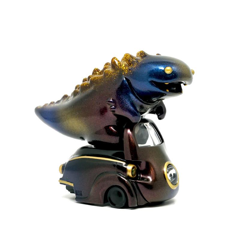 Lumisofvi : Lighty Black Set (Mini Figure with Light-up Car + Base)