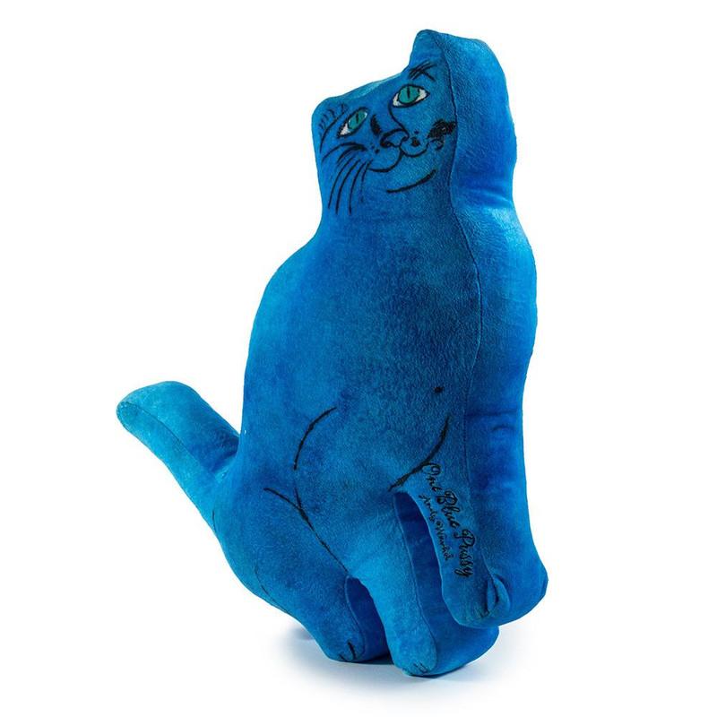Andy Warhol Plush Cat Pillows : Blue