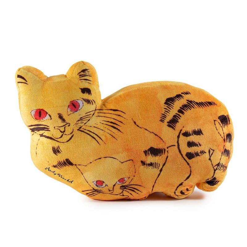 Andy Warhol Plush Cat Pillows : Yellow
