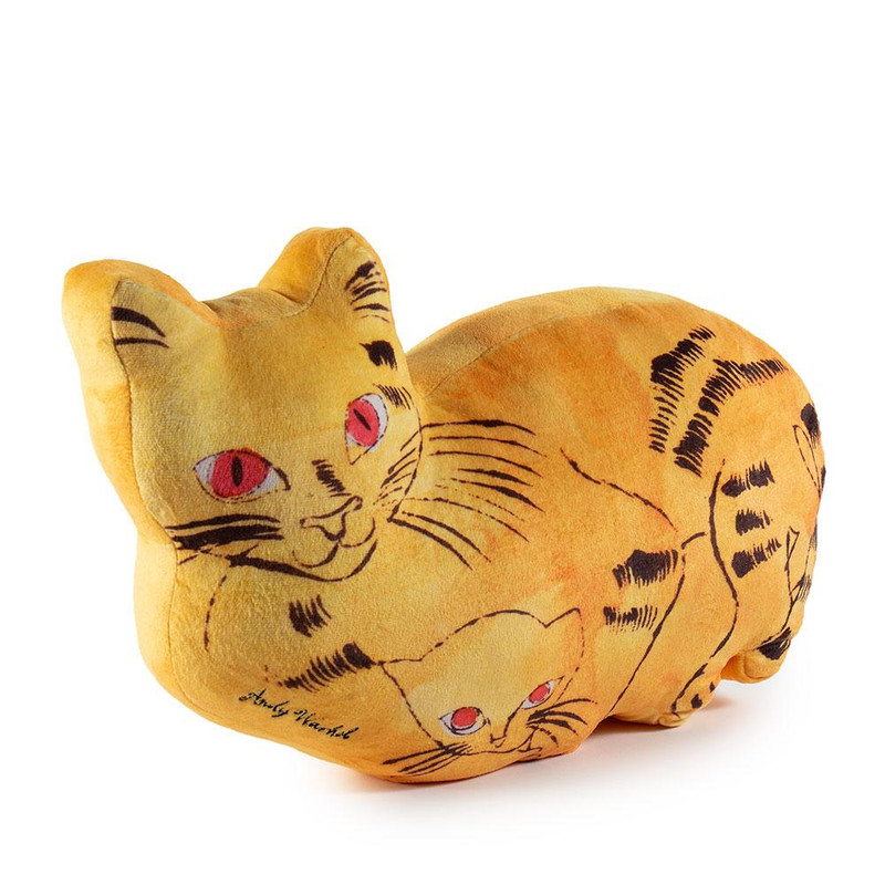Andy Warhol Plush Cat Pillows : Yellow