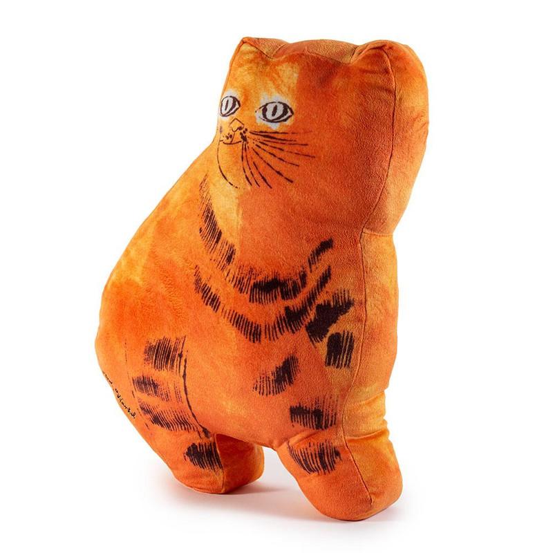 Andy Warhol Plush Cat Pillows : Orange