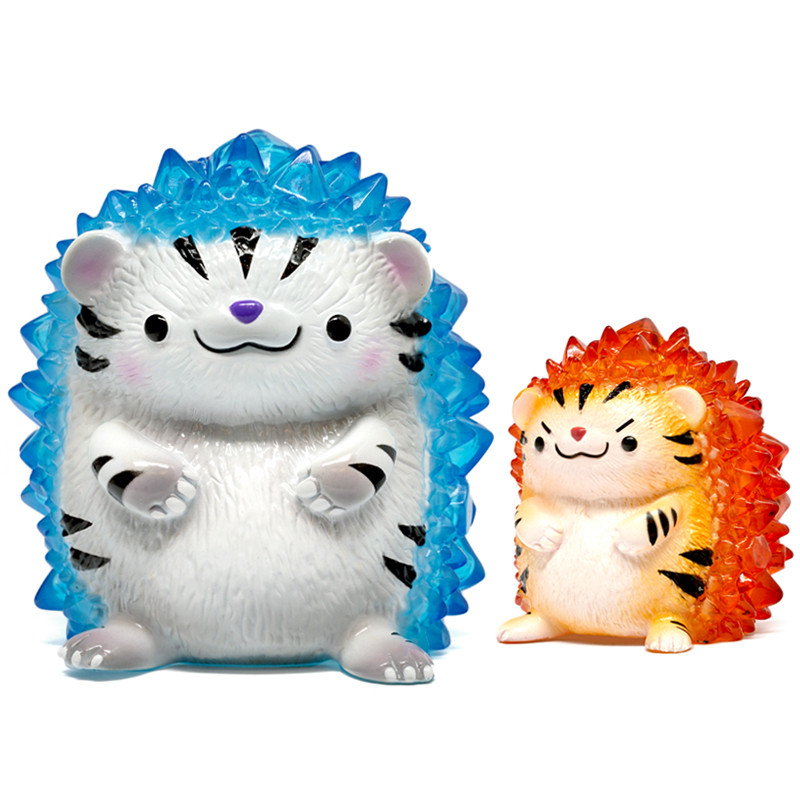 Hogkey the Crystal Hedgehog : White & Yellow Tiger