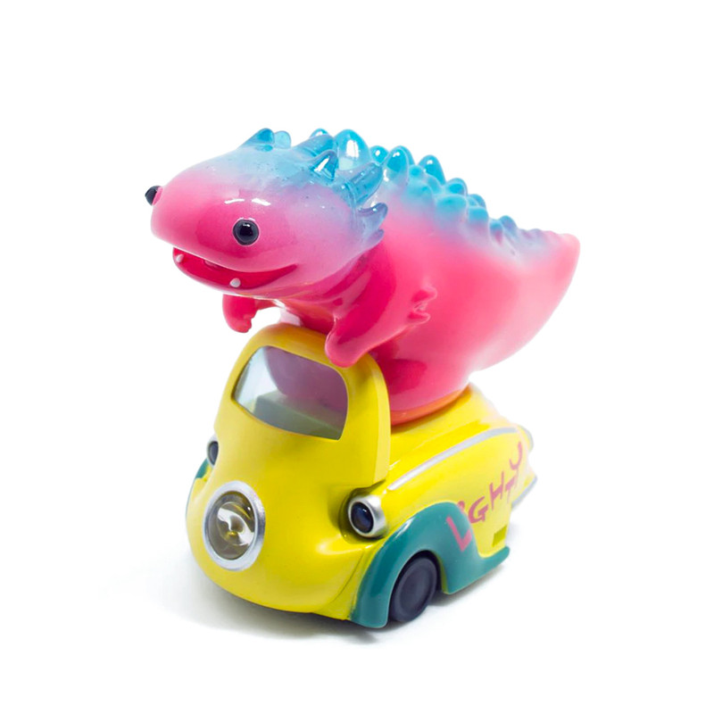 Lumisofvi : Lighty Pink Set (Mini Figure with Light-up Car + Base)