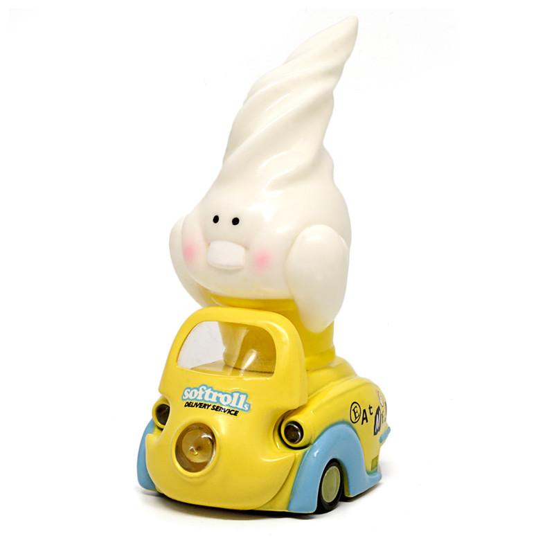 Lumisofvi : Softrolls White Set (Mini Figure with Light-up Car + Base)