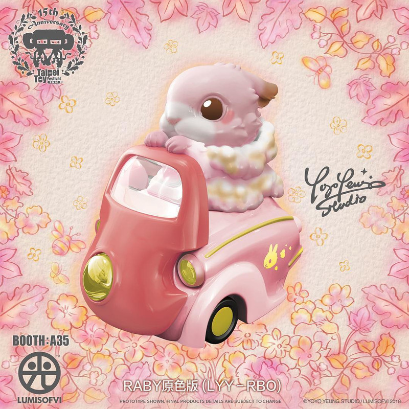 Lumisofvi : Raby Set (Mini Figure with Light-up Car + Base) PRE-ORDER SHIPS LATE DEC 2018