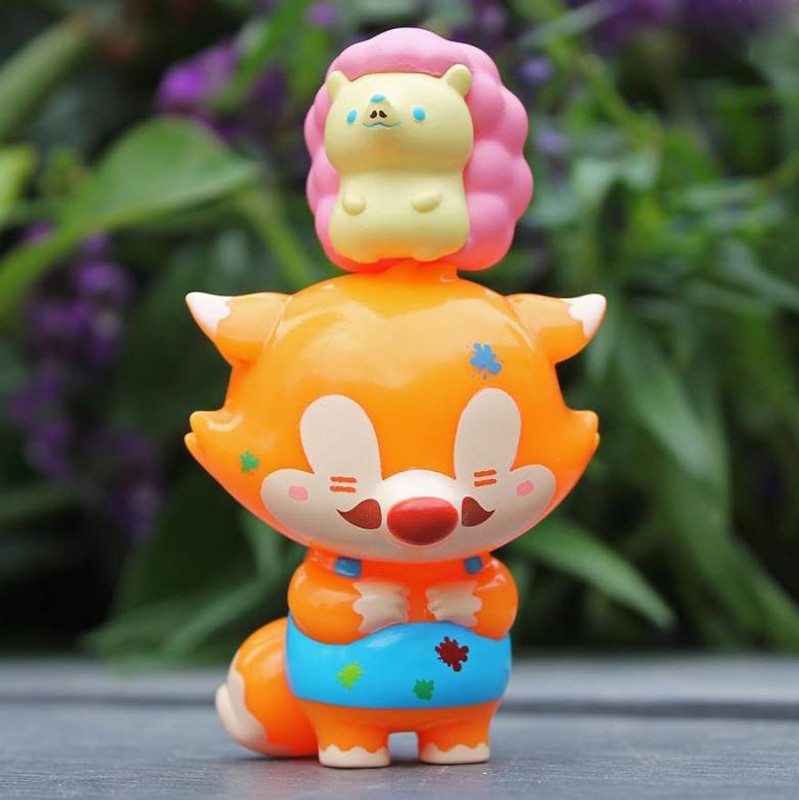 Fox Papa & Pinky Gentleman Dotdot Set