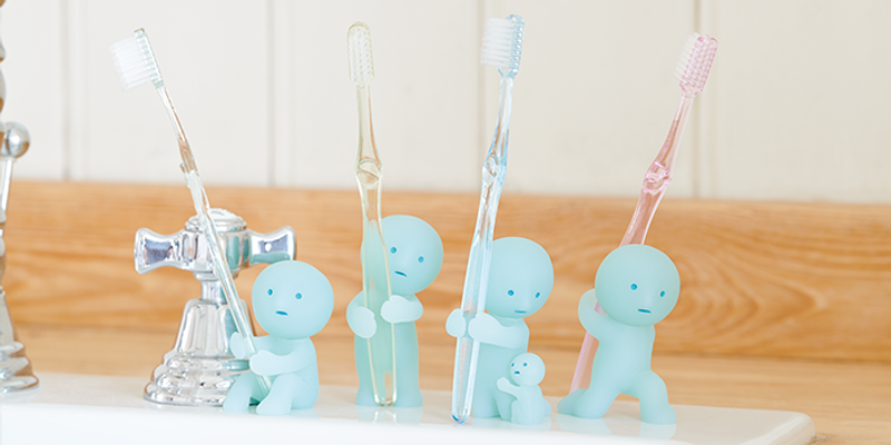 Smiski Glow in the Dark Toothbrush Stand