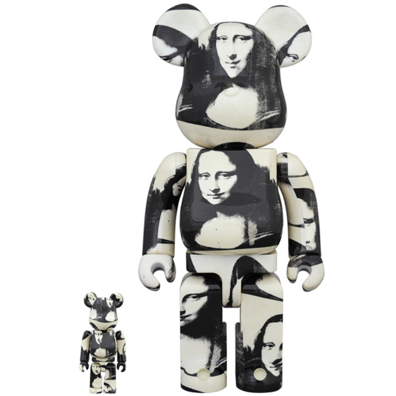 Be@rbrick 400% and 100% : Andy Warhol Double Mona Lisa