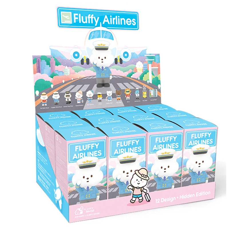 Mr. White Cloud Mini Series 5 Fluffy Airlines : Blind Box