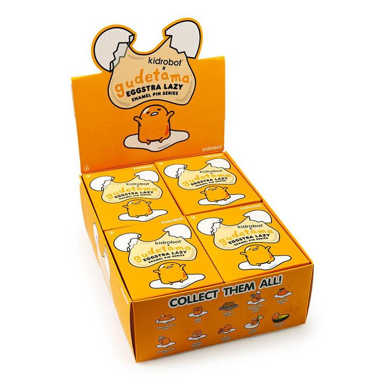 Gudetama Eggstra Lazy Enamel Pin Series : Blind Box