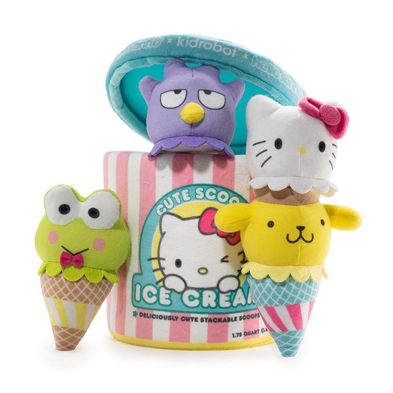 Sanrio Cute Scoops Ice Cream Plush
