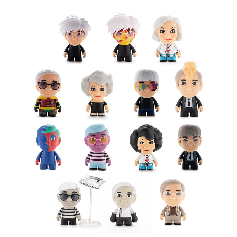 """3"""" Andy Warhol Many Faces of Andy Vinyl Art Mini Series : Blind Box"""