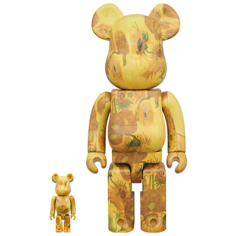Be@rbrick 400% and 100% Sunflowers by Van Gogh Museum