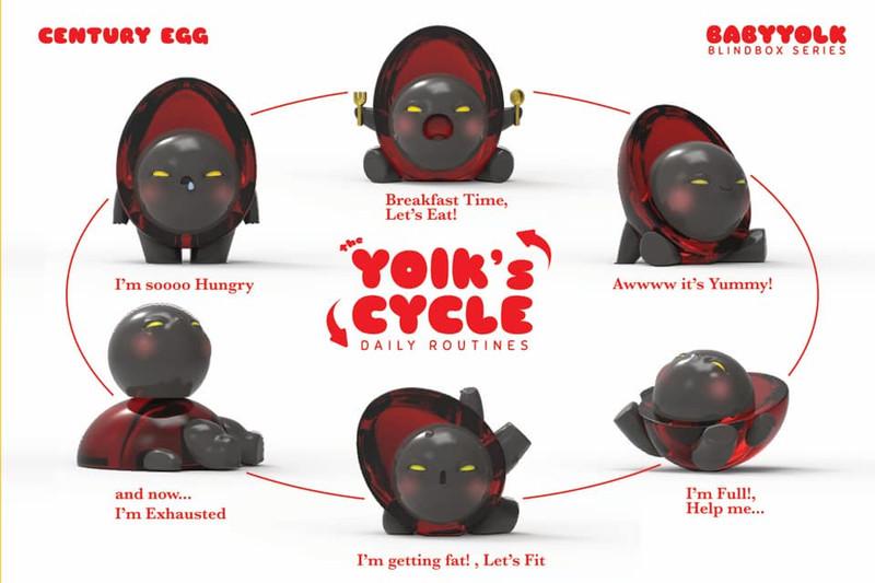 Baby Yolk Century Egg Color Blind Box by Ramarama Studio PRE-ORDER SHIPS NOV 2019