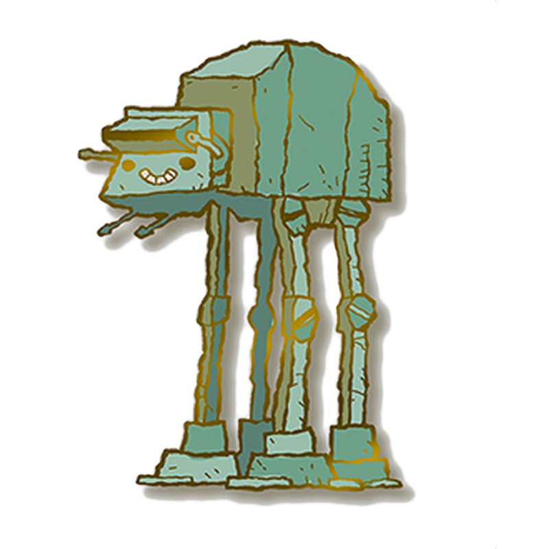 The Four-Legged Machine Enamel Pin by Scott C.