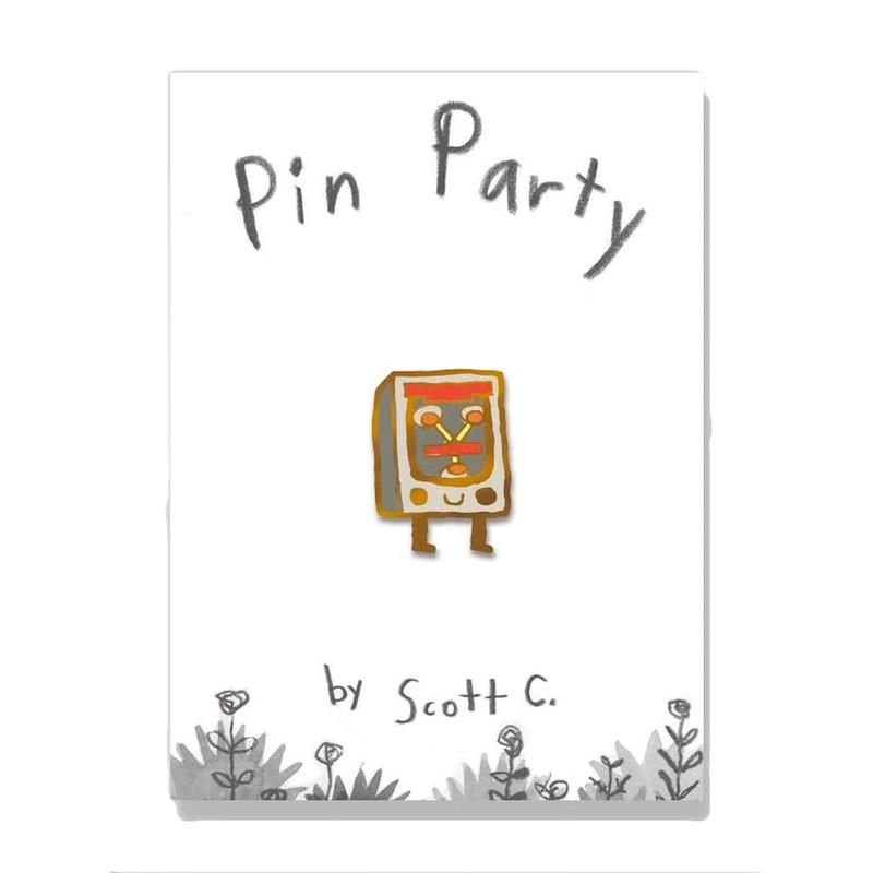 The Little Flux Enamel Pin by Scott C.