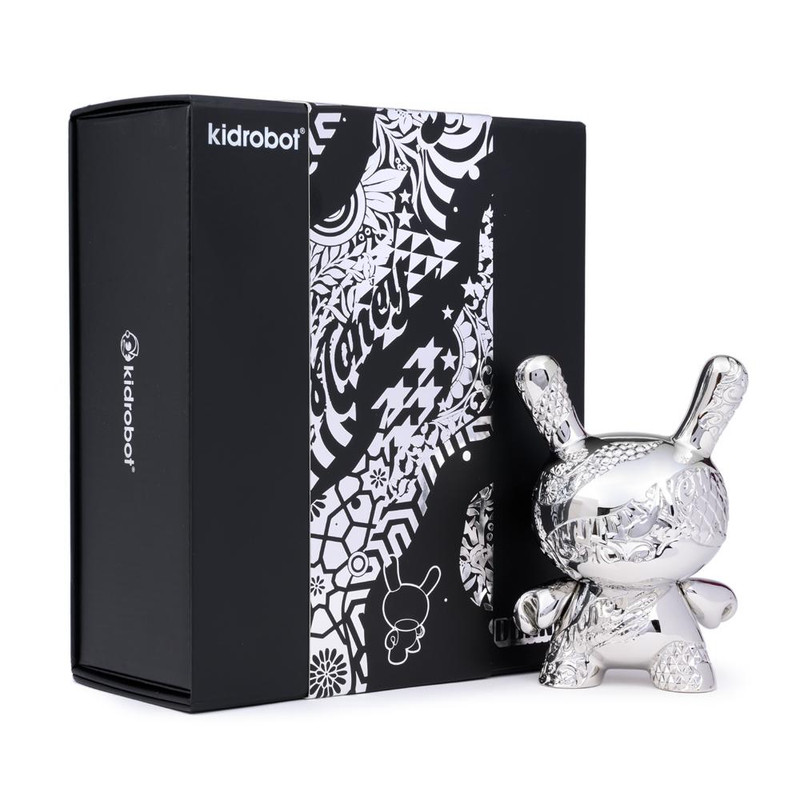 Dunny 5 inch : New Money Metal Dunny by Tristan Eaton