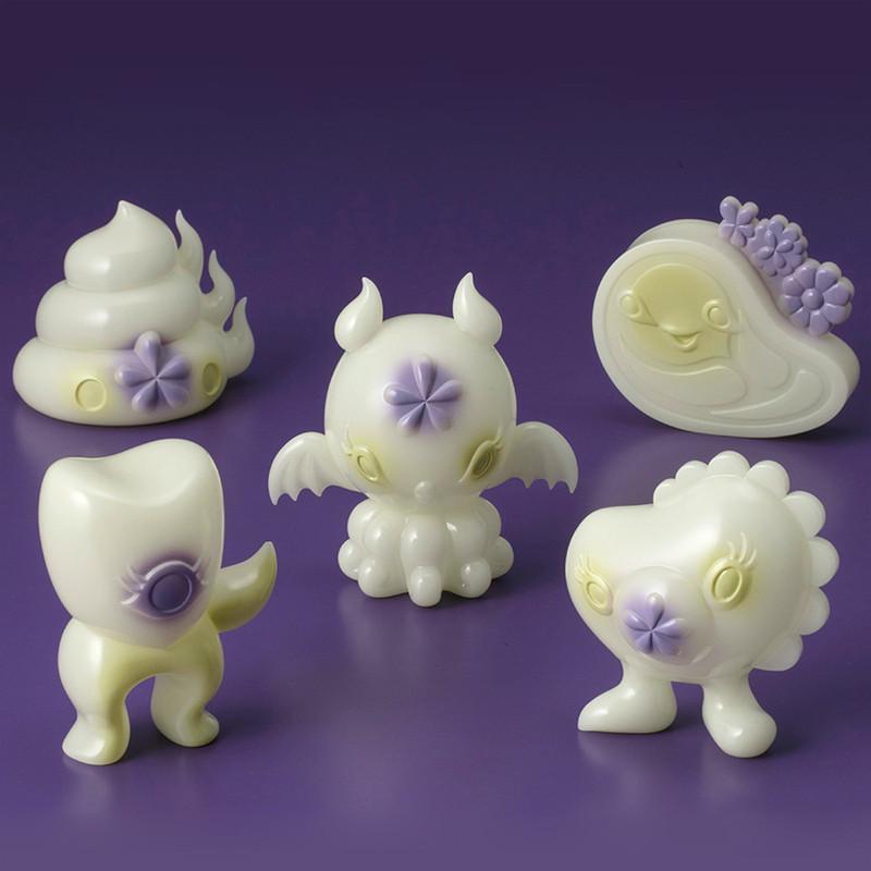 Junkonotomo Luminous Matcha GID Set of 5 by Junko Mizuno
